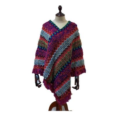 Cashmere Shawl Knitted Pullover Cape Tassel Scarf Women's Long Shawl