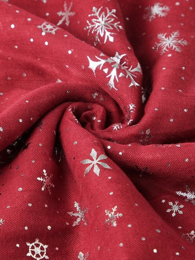 Christmas Snowflake Print Silver Print Scarf