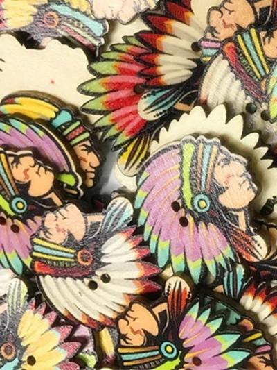 Vintage Feather Pattern Sewing Buttons