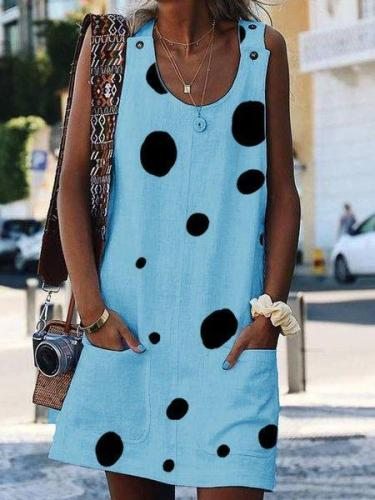 Shift Casual Floral-Print Sleeveless Casual Dresses