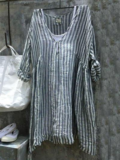 Striped Casual Casual Tops