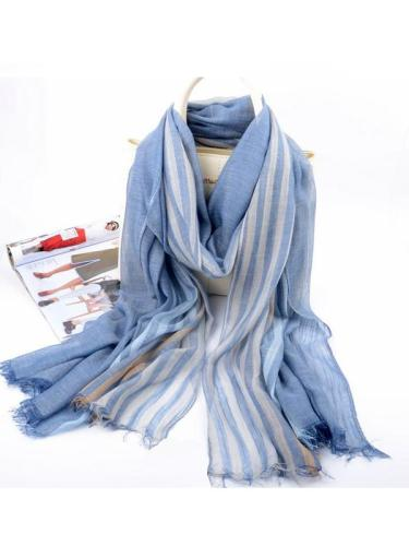 Pure Color Linen Cotton Soft Shawl Scarf