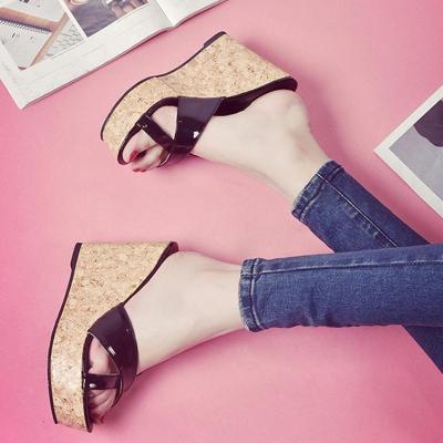 PU Wedge Heel Slip On Daily Shoes