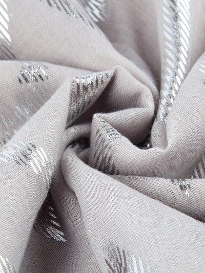 Silver Print Wavy Thin Scarf