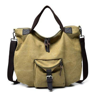 Casual Multi-layer Slung Canvas Women's Bag