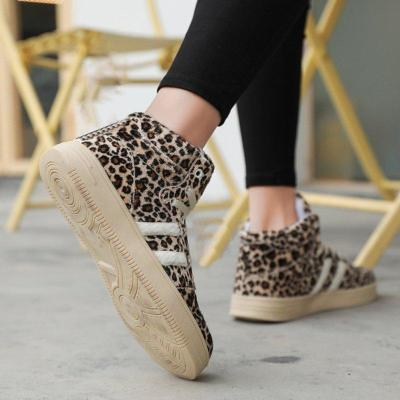 Leopard Daily Low Heel Winter Shoes Casual Comfy Ankle Boots