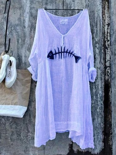 Half Sleeve V Neck Shirts & Tops