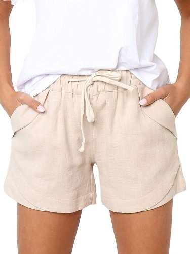 Holiday Pockets Cotton-Blend Shorts