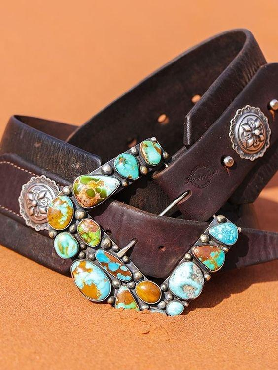 Blue Alloy Vintage Belts