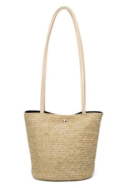 Women's Beach Snap Fastener Bag Handbag