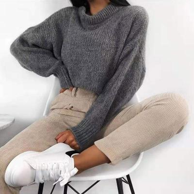 Women's Solid Color Knit Sweater