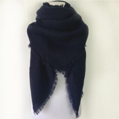 Design Solid Color Cashmere Women Scarf Large Size Blanket Lady Wool Scarves Square Shawl Cheap Wholesale