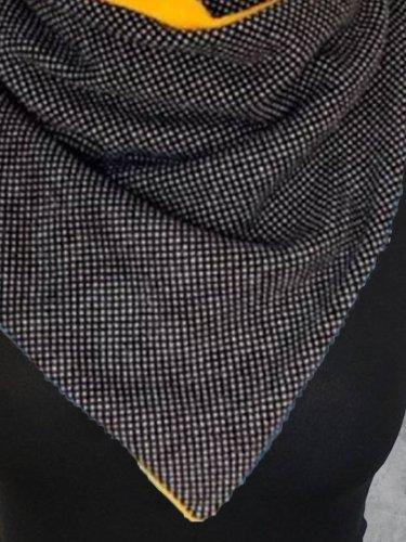 Color-Block Casual Cotton-Blend Scarves & Shawls