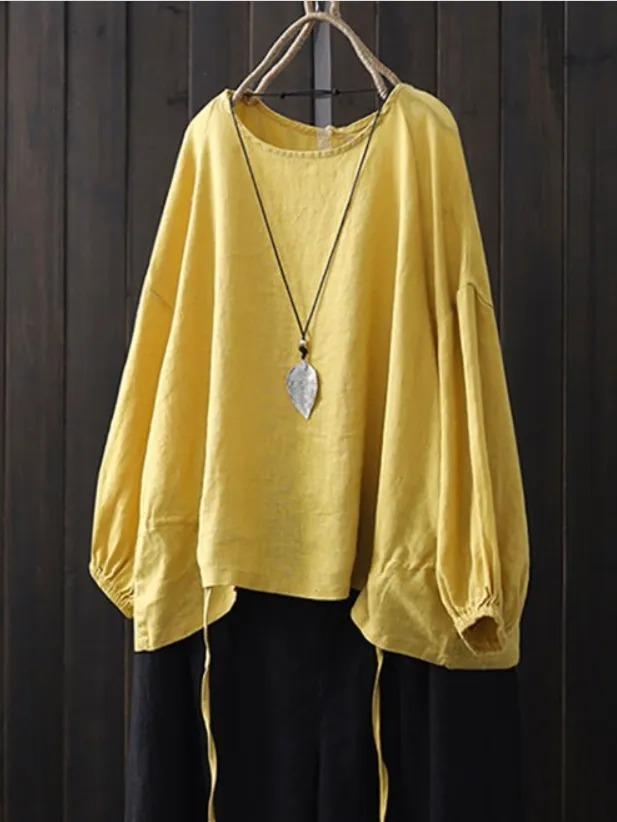 Cotton-Blend Shirts & Tops
