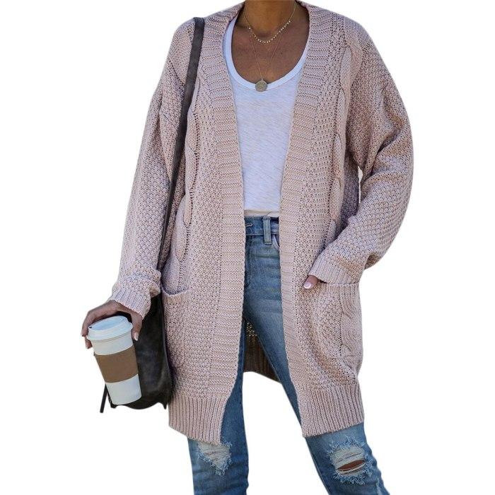 Cardigan Women Long Sleeve Knitted Women Sweater Cardigan Autumn Winter Women Sweater Sweater Coat