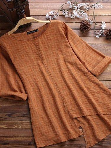 Short Sleeve Asymmetrical Shirts & Tops