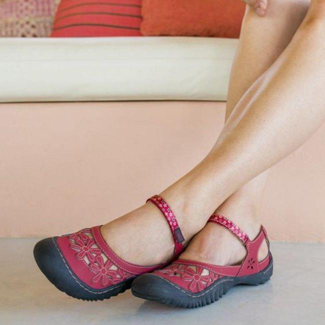 Artificial Suede Flat Heel Sandals