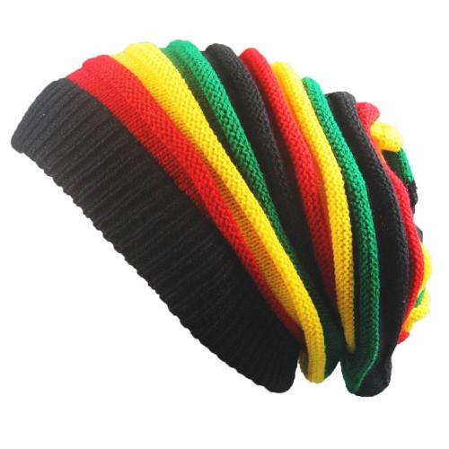 Red Yellow Green Black Fall Fashion Women's Knit Cap
