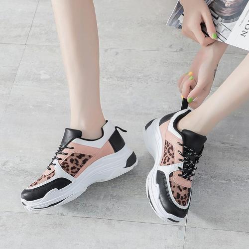 Fashion Colouring Platform Leopard Women Sneakers