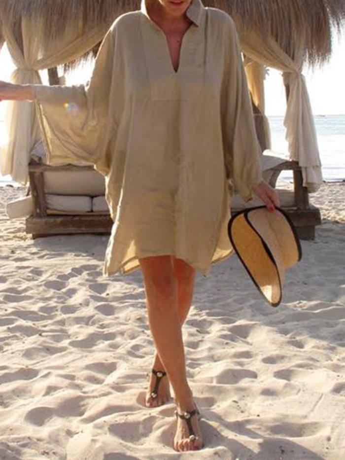 Long Sleeve Casual Shift Dresses