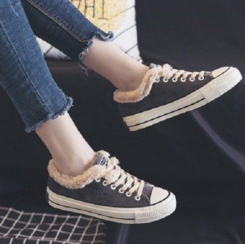 Women Athletic Faux Suede Lace-up Spring/Fall Flats Casual Winter Booties