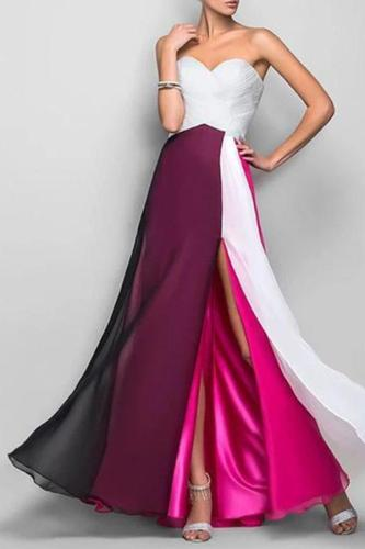 Elegant Off Shoulder Long Section Evening Maxi Dress