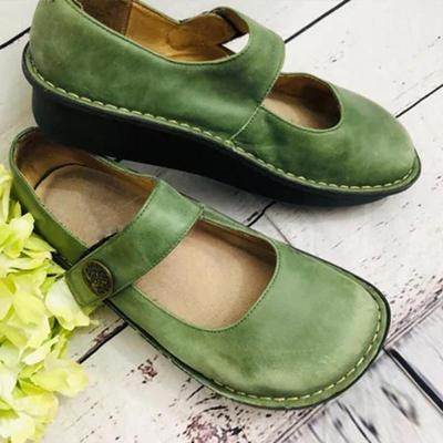 Alegria Paloma Green Mary Jane Loafers
