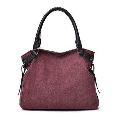 Vintage Casual Handbags Canvas Ladies Shoulder Bag Large Capacity Multi-layer Bags
