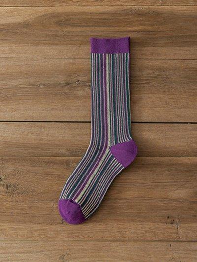 Fashion Cotton Striped Socks