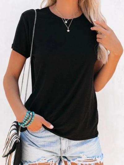 Basic Short Sleeve T-Shirts & Tops