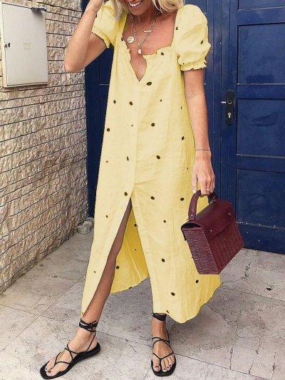 Cotton Short Sleeve Dresses