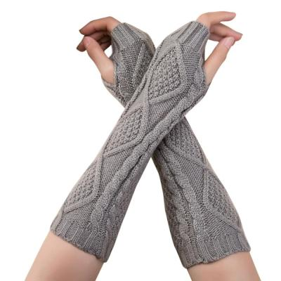 Winter Unisex Knitted Fingerless Gloves Casual Soft Warm Gloves