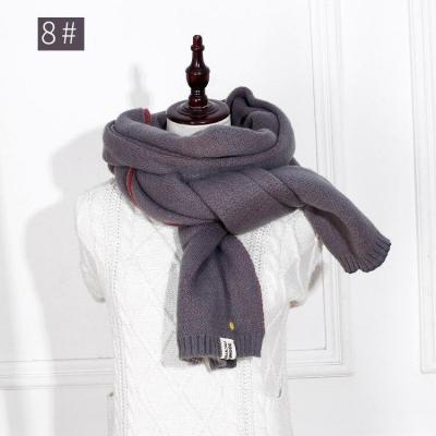 Lady Scarf Wool Knitted Scarf Winter Warm Soft Double Face