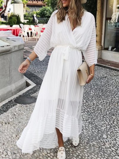 Cotton casual loose dress