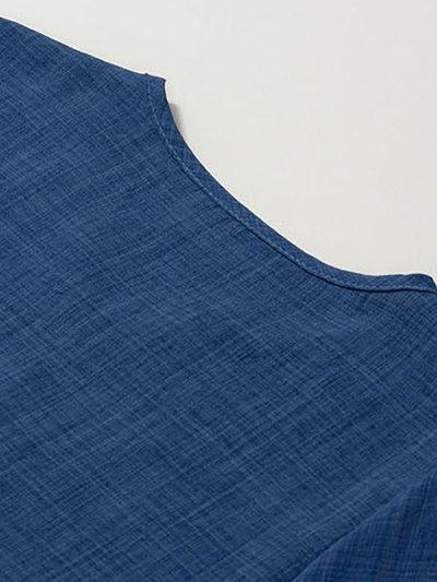 V neck Elegant Embroidered Half Sleeve Plus Size Blouse