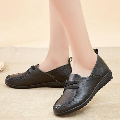 Women Plus Size Leather Daily Cowhide Leather Loafers