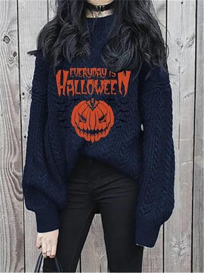 Halloween Women Floral-Print Sweater