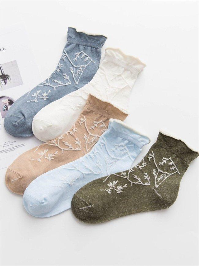 Casual Basic Daily Cotton Socks