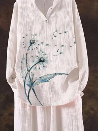 White Floral Pastoral Shirts & Tops