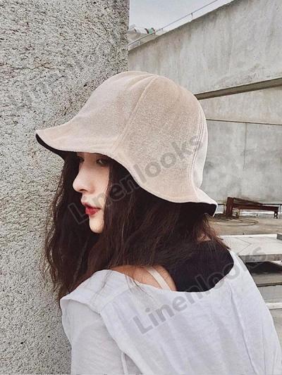 Velvet Chic Fisherman Hat Women Retro Sun Visor Cap
