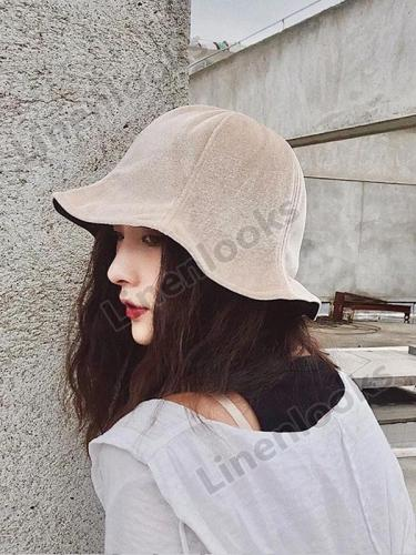 Velvet Chic Fisherman Hat Women Retro Sun Visor Cap