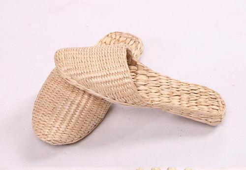 Knitted Slippers Home Comfortable Healthy Fashion Shoes Straw Shoes