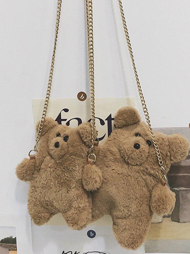 Brown Zipper Casual Crossbody Bags