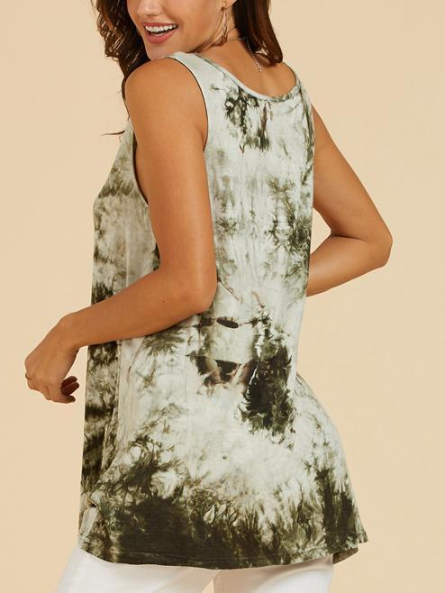 Floral V Neck Sleeveless Casual Shirts & Tops