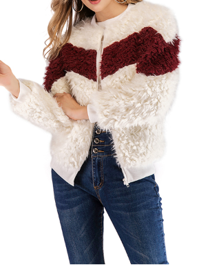 White Long Sleeve Round Neck Tops