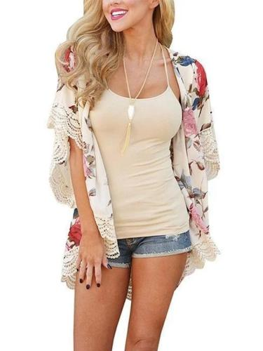 New Printed Lace Cardigan