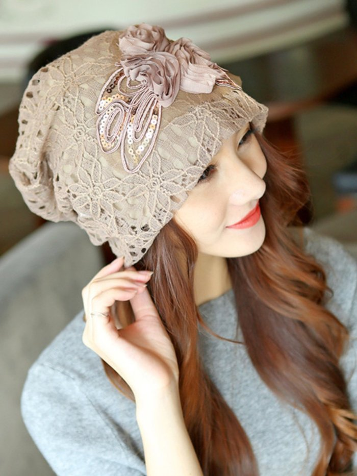 Embroidery Lace Elegant Appliqued Hat
