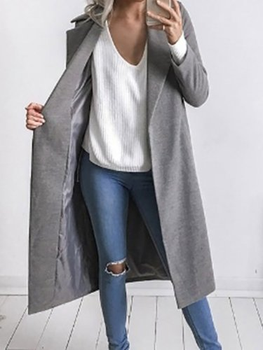 Shawl Collar Polyester Elegant Solid Blazer