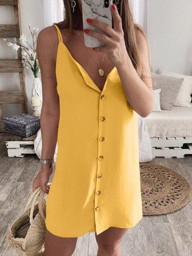 Summer Dresses V Neck Women Shift Beach Dresses