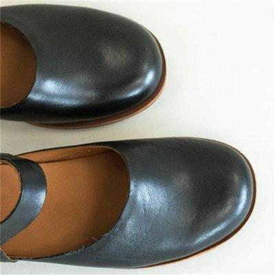 Low Heel Pu Buckle Slip-on Flats